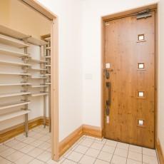神戸市灘区2世帯新築一戸建て注文住宅自然健康耐震住まいマイホーム見学会玄関