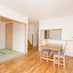 神戸市灘区2世帯新築一戸建て注文住宅自然健康耐震住まいマイホーム見学会オーク無垢材のフローリング