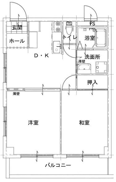 【賃貸・部屋探し】プリンスパーク 201
