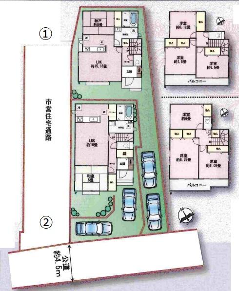 新築一戸建て 神戸市垂水区東垂水1 2580万 1号棟