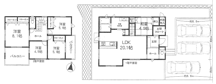 新築戸建 神戸市北区筑紫が丘1 3380万