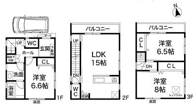 新築戸建 神戸市灘区弓木町4( A号地 ) 4580万