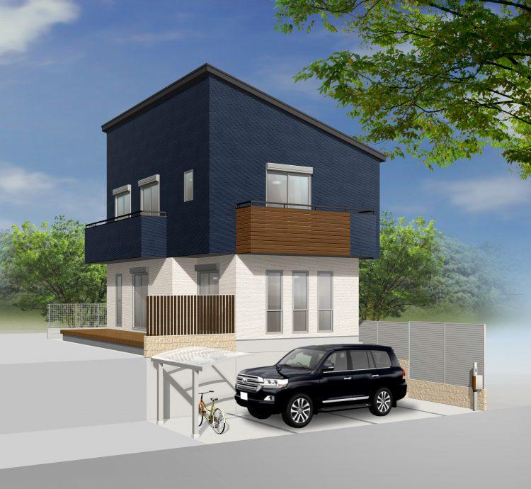 深基礎を擁壁にして土地の高低差を活用したお家神戸市中央区y様邸