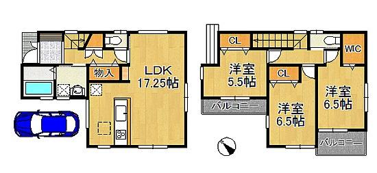 新築戸建 神戸市西区美賀多台4 3290万 1号地