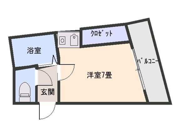 タルミフラット 203 間取り図