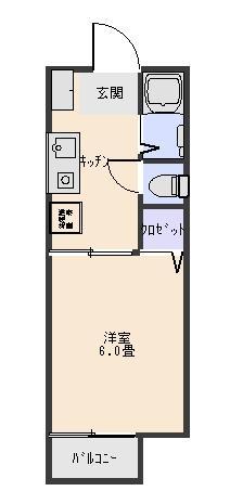 メゾンルナ203 間取り図