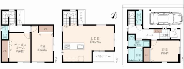 東灘区田中町3 新築戸建 4980 図
