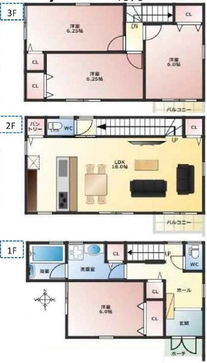 東灘区御影塚町 新築戸建 4850 B号地 図