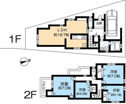 垂水区乙木1 新築戸建 3180 間取り図