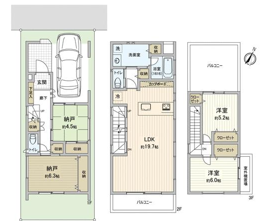 灘区赤坂通1 新築戸建 5250 間取り図