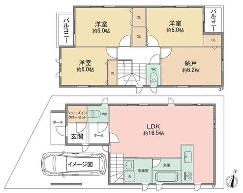 兵庫区氷室町2 新築戸建 3150 A号地 間取り図